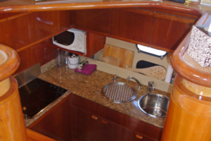 Galley access from saloon