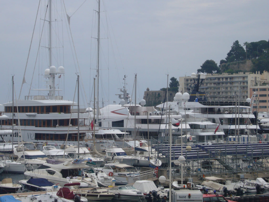 Overlooking the mega yachts